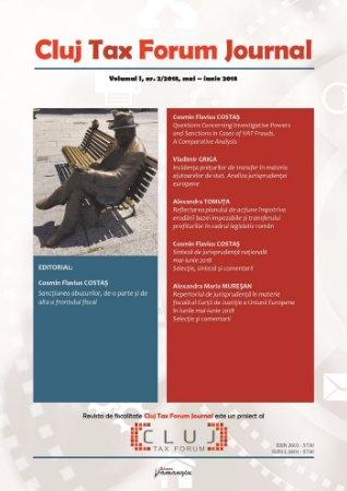 Cluj Tax Forum Journal 2/2018