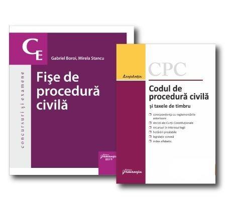 Pachet Fise de procedura civila. Codul de procedura civila actualizat 8 mai 2019