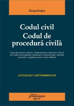 Codul civil. Codul de procedura civila, editie actualizata la 1 septembrie 2019