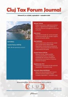 Cluj Tax Forum Journal 5/2019