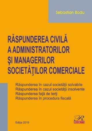 Raspunderea civila a administratorilor si managerilor societatilor comerciale_Bodu