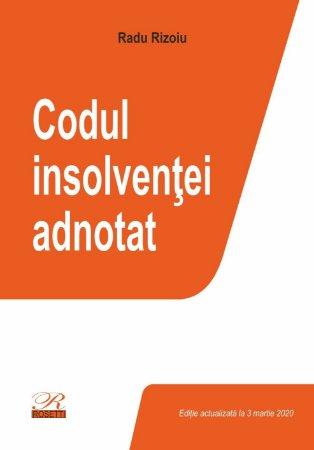Codul insolventei adnotat - Radu Rizoiu