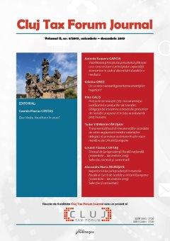 Cluj Tax Forum Journal 6/2019