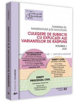 Admiterea in magistratura si in avocatura.  Vol. I – Drept civil, Drept procesual civil 2020 - Motiu
