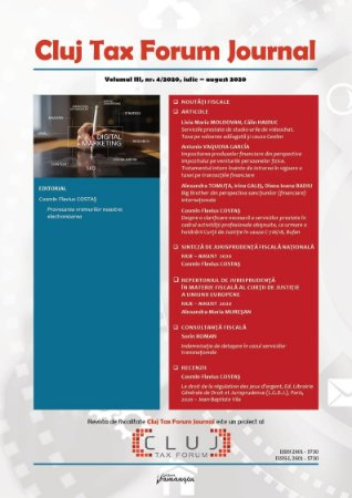 Cluj Tax Forum Journal 4/2020