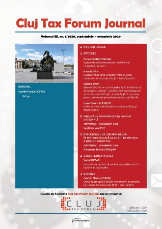 Cluj Tax Forum Journal 5/2020