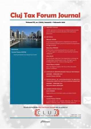 Cluj Tax Forum Journal 1/2021