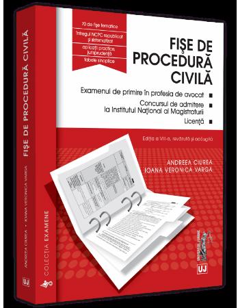 Fise de procedura civila. Editia a 8-a - Andreea Ciurea, Ioana Veronica Varga
