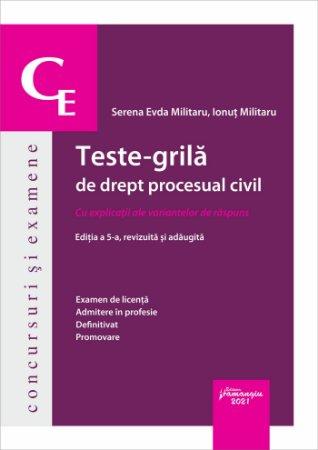 Teste-grila de drept procesual civil_2021_Militaru