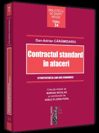Contractul standard in afaceri. O perspectiva de law and economics autor Dan-Adrian Caramidariu